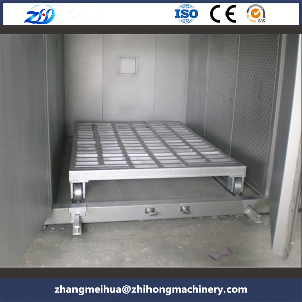 Mold pre-heated hot air circulating oven