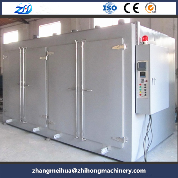 Double chamber hot air circulation oven